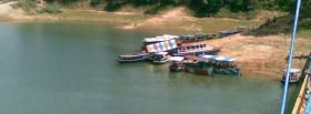 free boats on shore nature facebook cover