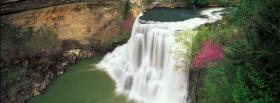 free cascade nature facebook cover