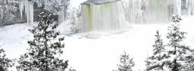 free icy pine forest nature facebook cover