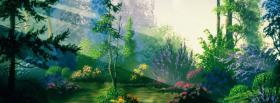 free fantasy forest nature facebook cover