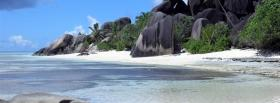 free grey rocks beach nature facebook cover
