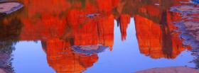 free mountain reflections nature facebook cover