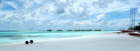 free bright day beach nature facebook cover