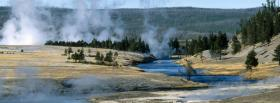free nature yellowstone national park facebook cover