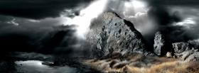 free deep light on rock nature facebook cover