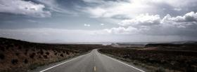 free deserted road nature facebook cover