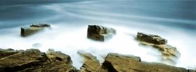 free fog and rocks nature facebook cover
