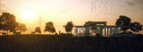 free birds home nature facebook cover