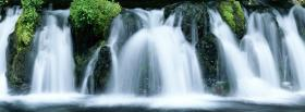 free immense waterfalls nature facebook cover