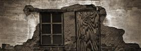 free broken down wall nature facebook cover
