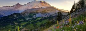 free mount rainier nature facebook cover
