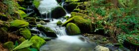 free little cascade nature facebook cover