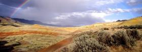 free far away rainbow nature facebook cover