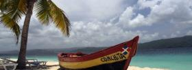 free boat on beach nature facebook cover