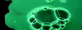 free green liquid bubbles nature facebook cover