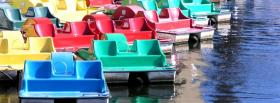 free colorful paddle boats nature facebook cover