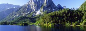 free mountain lake nature facebook cover