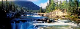 free falls river nature facebook cover