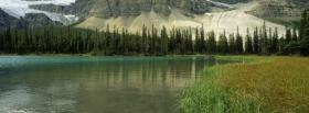 free glacial lake nature facebook cover