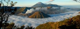 free mist volacnos nature facebook cover