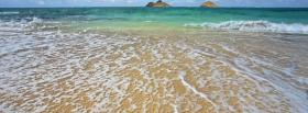 free ocean water sand nature facebook cover