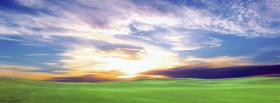 free great sunset nature facebook cover