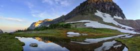 free high mountain nature facebook cover