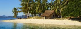free cabin on beach nature facebook cover
