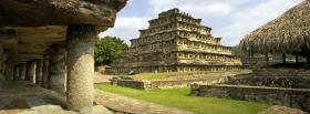 free pyramid mexico nature facebook cover