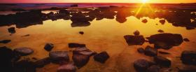 free sunset and rocks nature facebook cover
