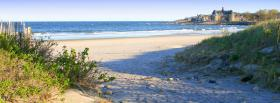 free grass beach nature facebook cover