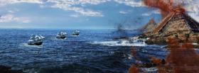 free pyramid on fire nature facebook cover
