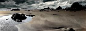 free dark beach nature facebook cover