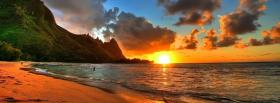 free sunset paradise nature facebook cover