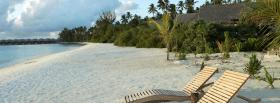 free benches on beach nature facebook cover