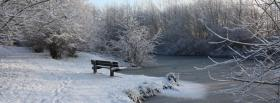 free winter and bench nature facebook cover