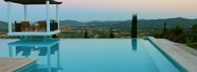 free infinity pool nature facebook cover