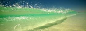 free ocean wave nature facebook cover