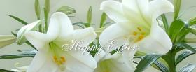 free white simple flowers nature facebook cover