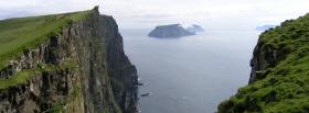 free cliff water nature facebook cover
