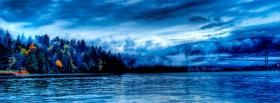 free water forest scenery nature facebook cover