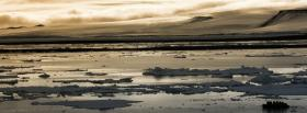 free arctic sunset nature facebook cover