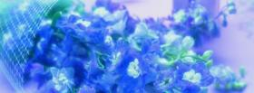 free blue flowers nature facebook cover
