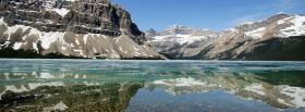 free winter lake mountains nature facebook cover