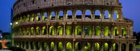 free night colosseum nature facebook cover