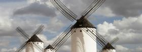 free windmills clouds nature facebook cover