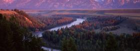 free river in forest nature facebook cover