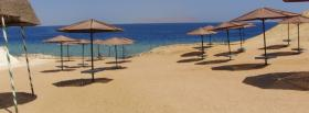 free beach umbrellas nature facebook cover