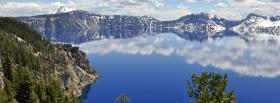 free crater lake nature facebook cover