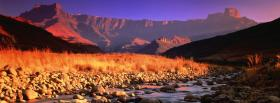 free drakensberg mountains nature facebook cover